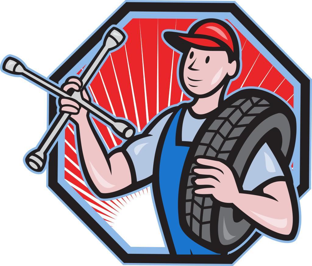 Все включено: шиномонтаж 4-х колес, ремонт прокола