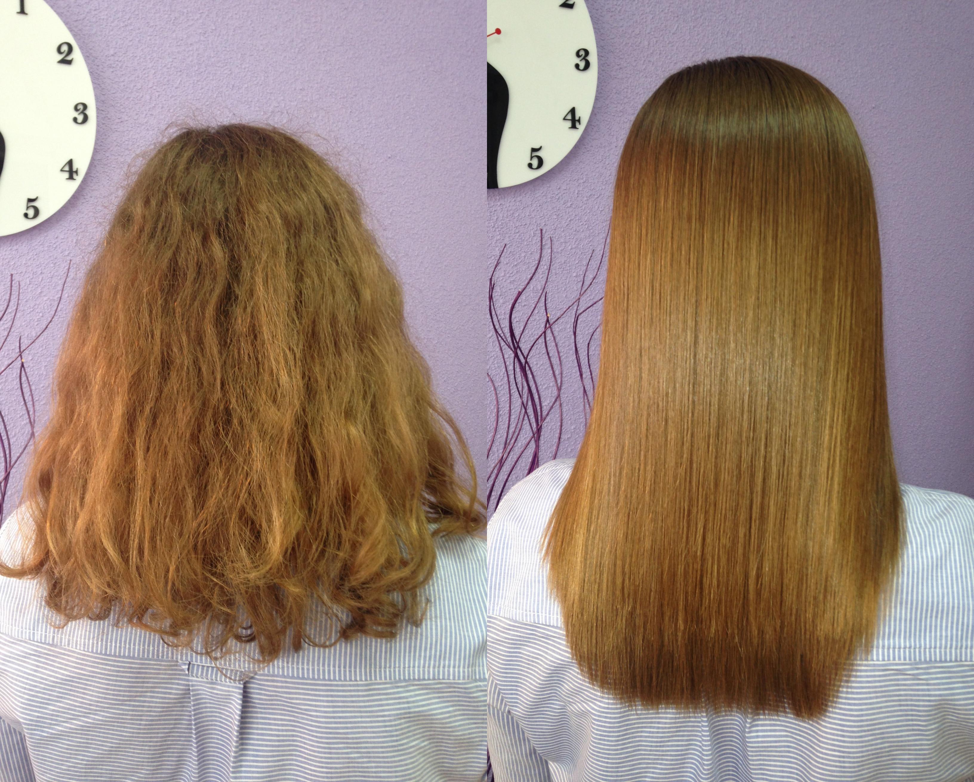 Кератиновое выпрямление и лечение, биксипластия, ботокс и реконструкция волос, комплекс от 25 руб.