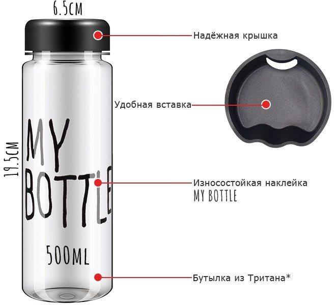 """Бутылка для напитков """"My Bottle"""" всего от 7,50 руб."""