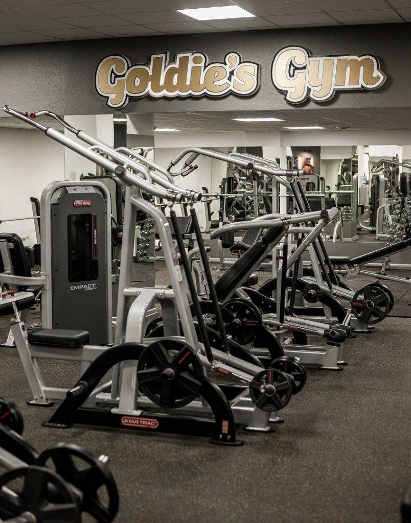 """Бесплатная тренировка и первое посещение (0 руб), безлимитный абонемент со скидкой до 50% в клубе """"Goldie's Gym"""""""