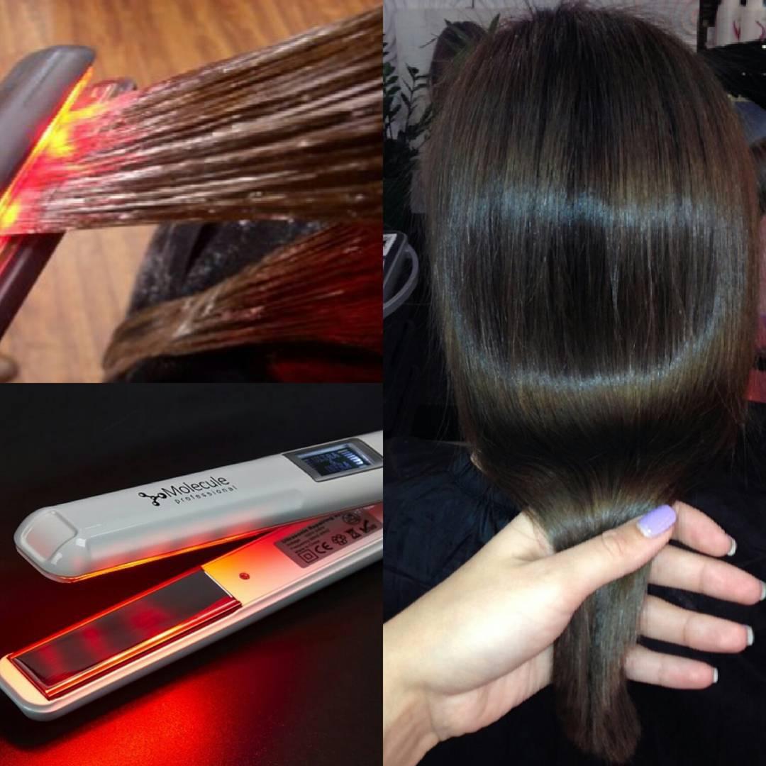 Молекулярное восстановление и глянцевание волос ультразвуковым и инфракрасным утюжком с уходом от 37 руб.
