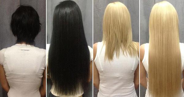 Капсульное наращивание волос за 0,90 руб/прядь