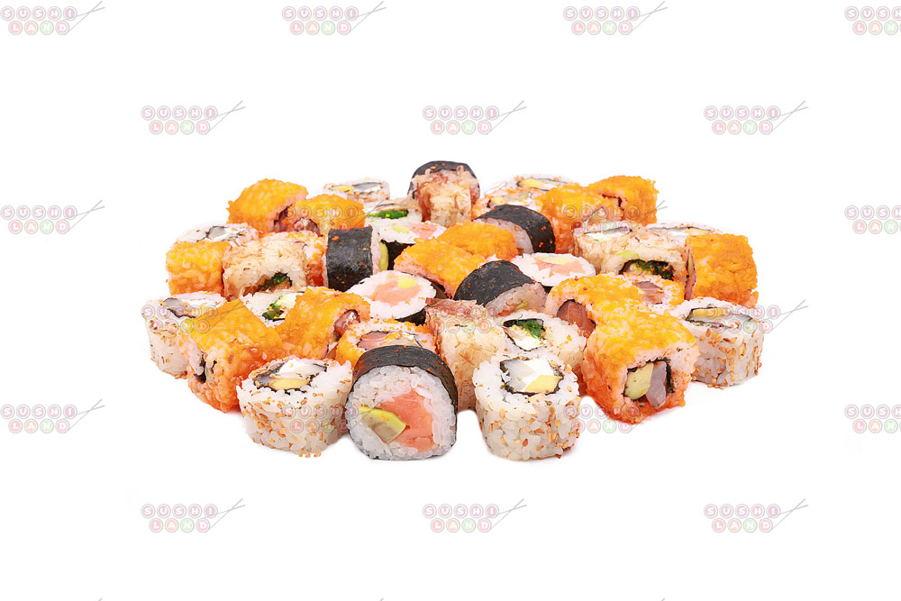 20 суши-сетов всего от 15,90 руб/705 г, суширрито от 4,19 руб.