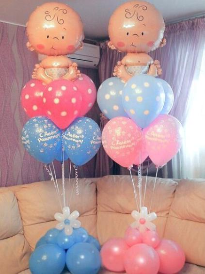 Воздушные шары и различные композиции от 0,50 руб.