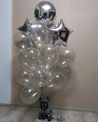 Гелиевые, светящиеся, фольгированные шары, букеты из шаров от 0,50 руб./шт.