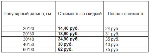 Фото на документы за 2,45 руб, печать фото на холсте (фотокартин) и художественных фотографий от 1,80 руб.