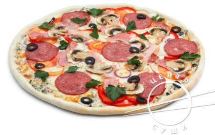 "Пицца с доставкой от ""Центр Суши"" всего от 4,15 руб/560 г + кола в подарок!"