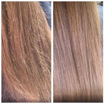 """Стрижка + """"Шелковый уход"""" для волос от 26,30  руб., полировка волос от 13,75 руб."""