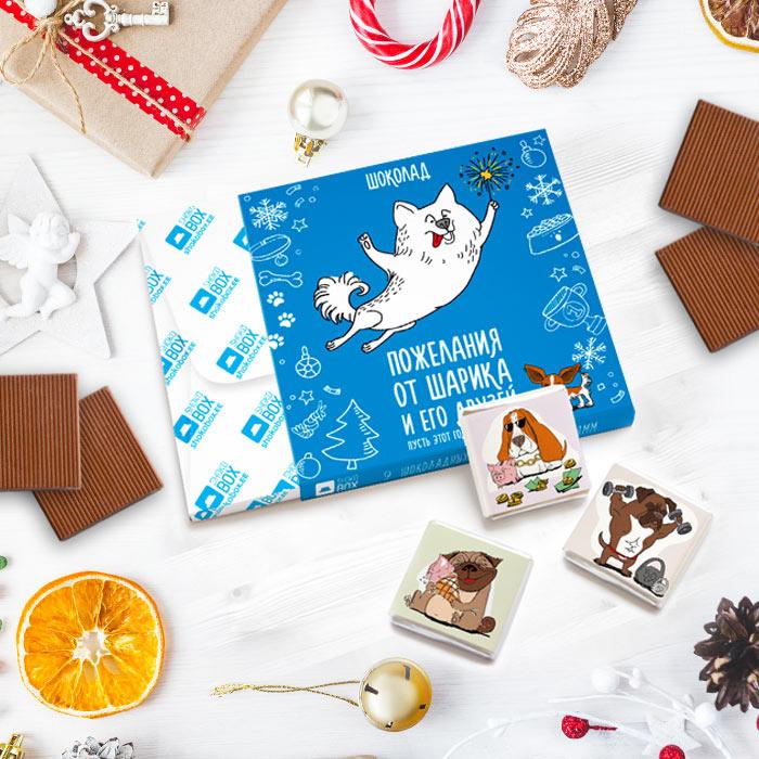 Новогодние шоколадные подарки от Shokobox.by всего от 3,15 руб.
