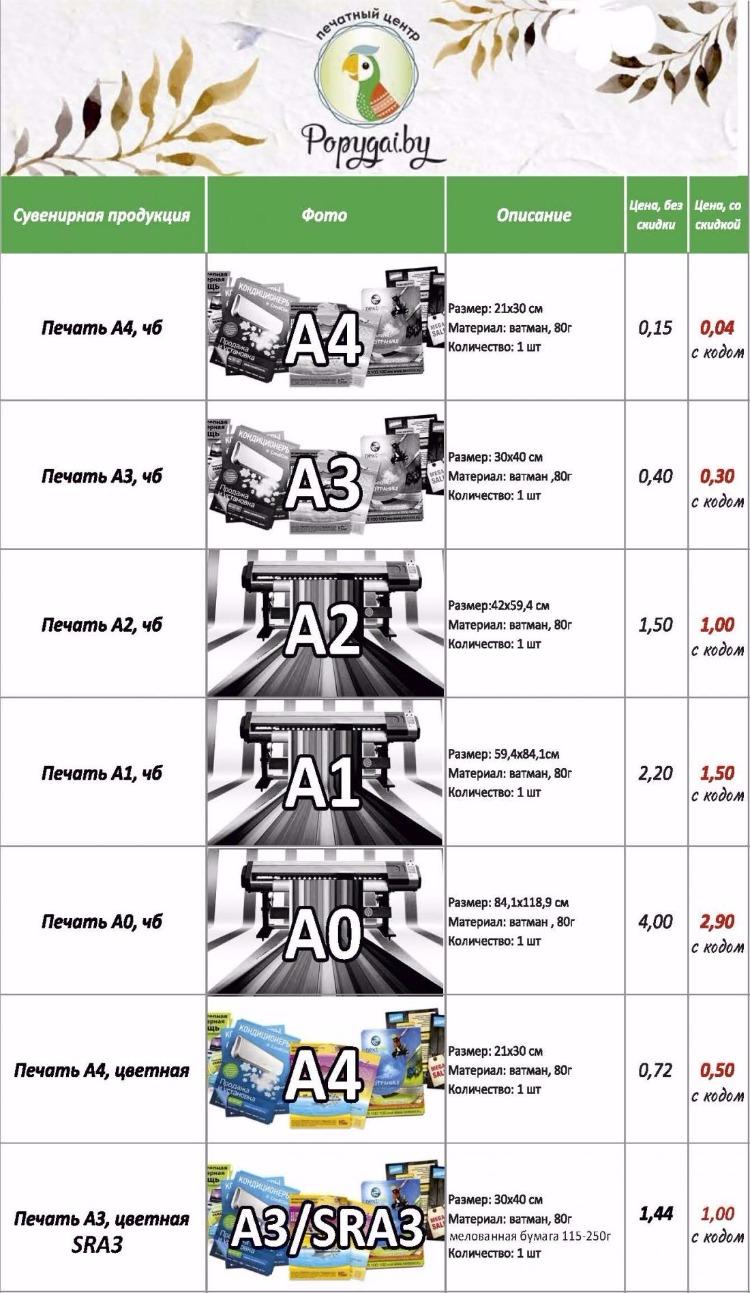 """Распечатка документов, ламинация, печать визиток, листовок, флаеров и дипломов в центре """"Попугай"""" за 0,04 руб./стр."""