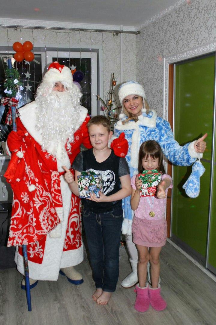 Поздравление доброго Дедушки Мороза и его очаровательной Снегурочки от 20 руб.