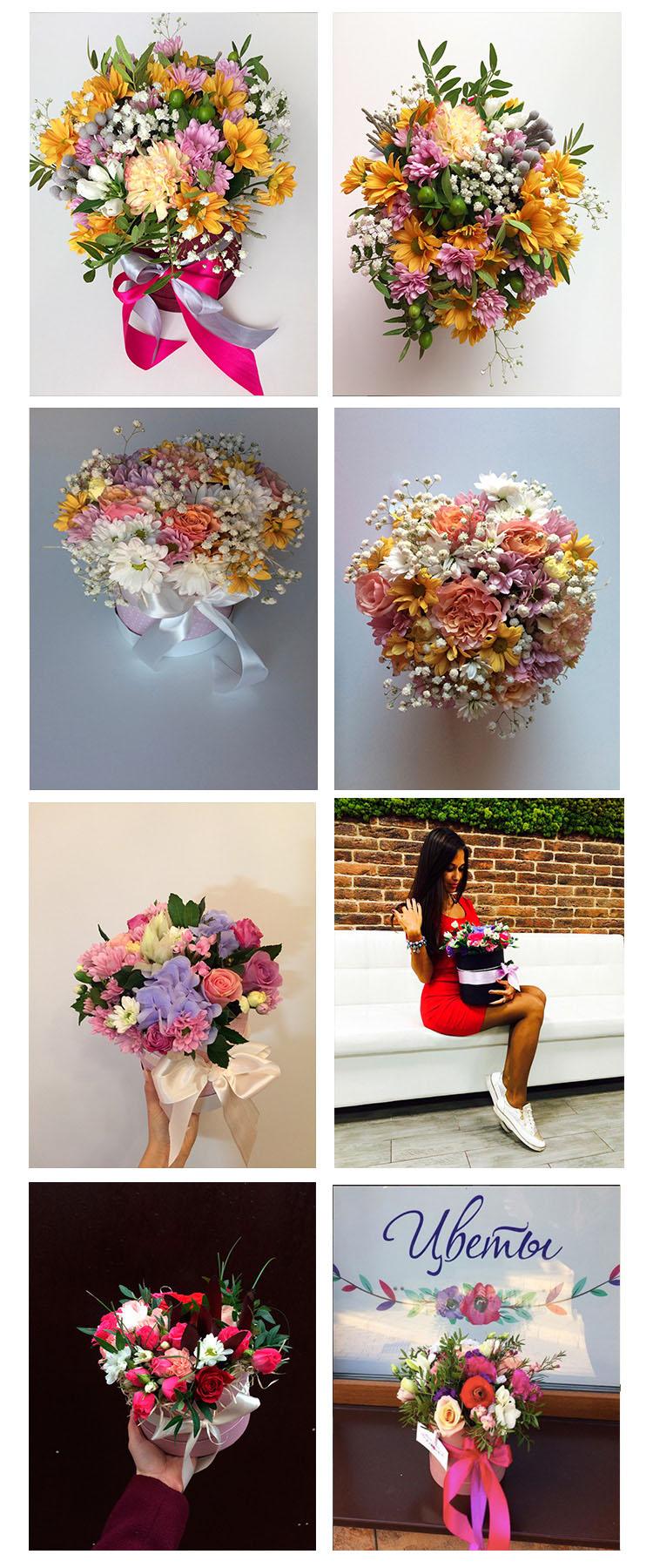"""Тюльпаны от 1 руб, букеты, деревянные и шляпные коробочки с цветами с круглосуточной доставкой от """"Мастерская 27"""""""
