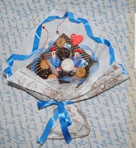 """Оригинальные и вкусные букеты, мужские и детские букеты, цветочно-фруктовые корзинки от """"Калi ласка"""" всего от 9,50 руб."""
