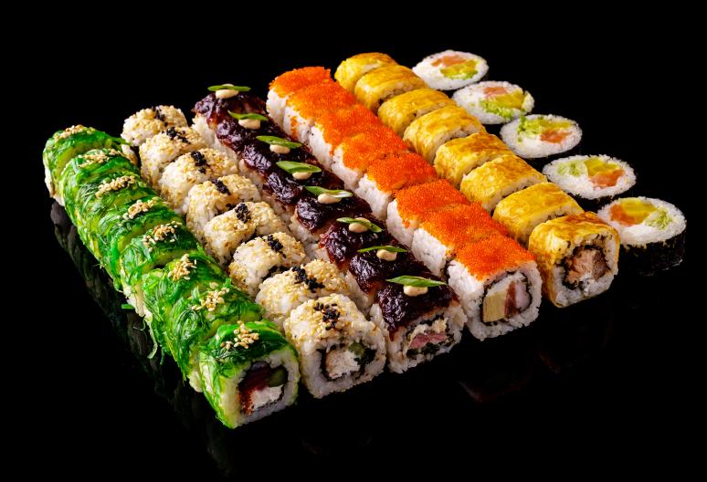 """Сеты в суши-баре """"Манга"""" или доставка/самовывоз всего от 22 руб/до 1714 г"""