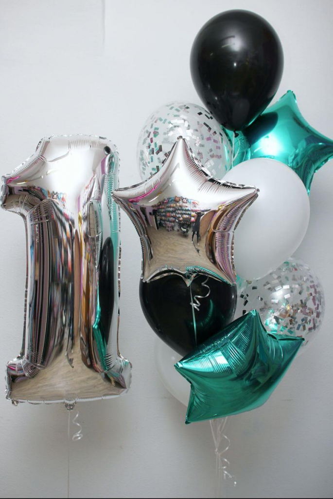 Гелиевые шары, светодиодные, светящиеся, фольгированные шарики, цифры от 1 руб.