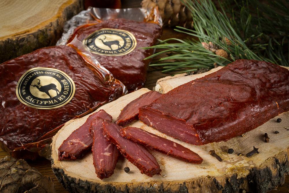 Колбасы из дичи, сушеное мясо, подарочные наборы от 10,80 руб/100 г