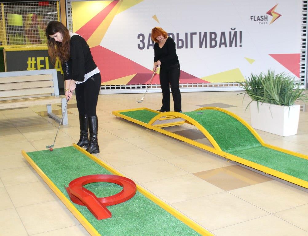 """Мини-гольф в ТРЦ """"Арена-Сити"""" от 10 руб/60 минут"""