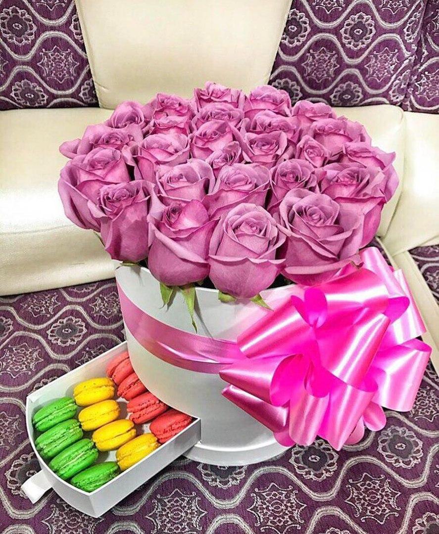 Розы от 0,85 руб/шт, букеты, композиции и шляпные коробки от 25 руб.