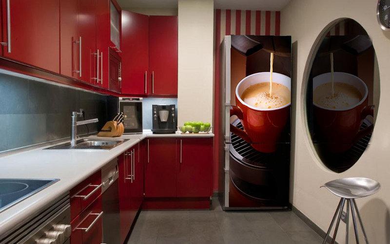 Наклейки на холодильник и фотообои всего от 12,55 руб/м2