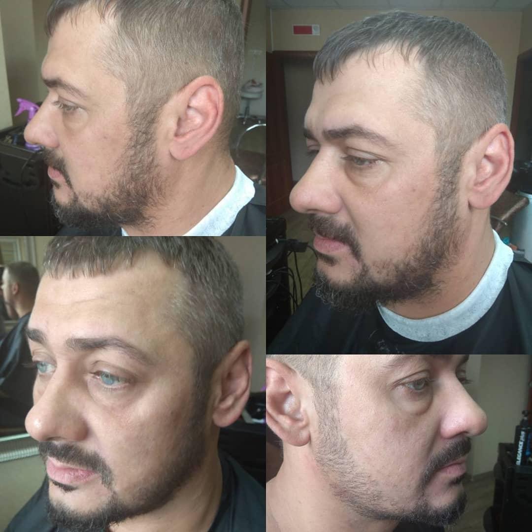Мужская стрижка, камуфляж седины, окрашивание бороды от 10 руб.