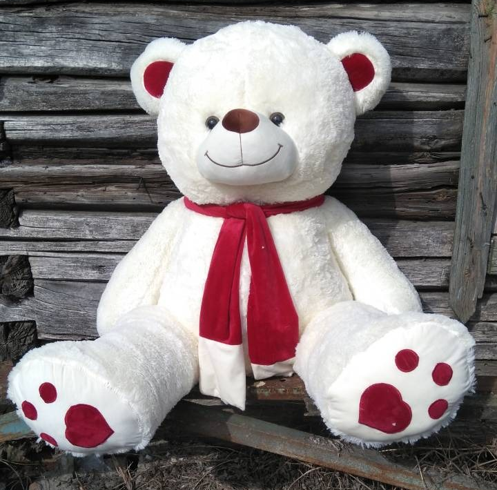 Большие плюшевые медведи по суперцене от 11 руб + подарок!