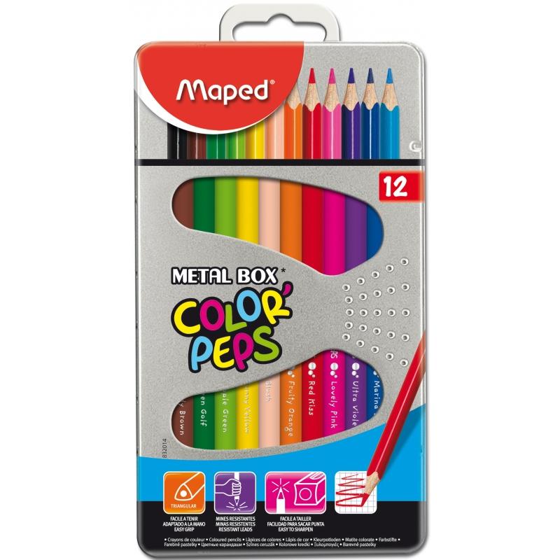 """Детские пеналы """"Milan"""" с наполнением, наборы карандашей """"Maped"""" от 6,25 руб."""
