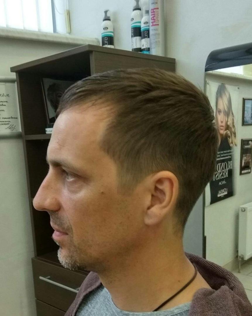 """Мужская модельная стрижка + мытье головы + сушка по форме за 18 руб. в """"Victoria Olimp"""""""