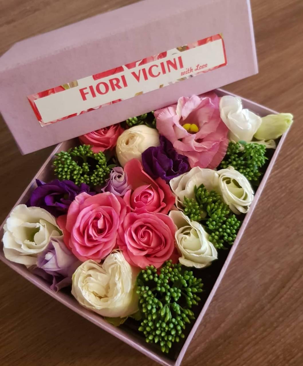 Коробки с цветами, колбасные, фруктовые, букеты под заказ всего от 25 руб.