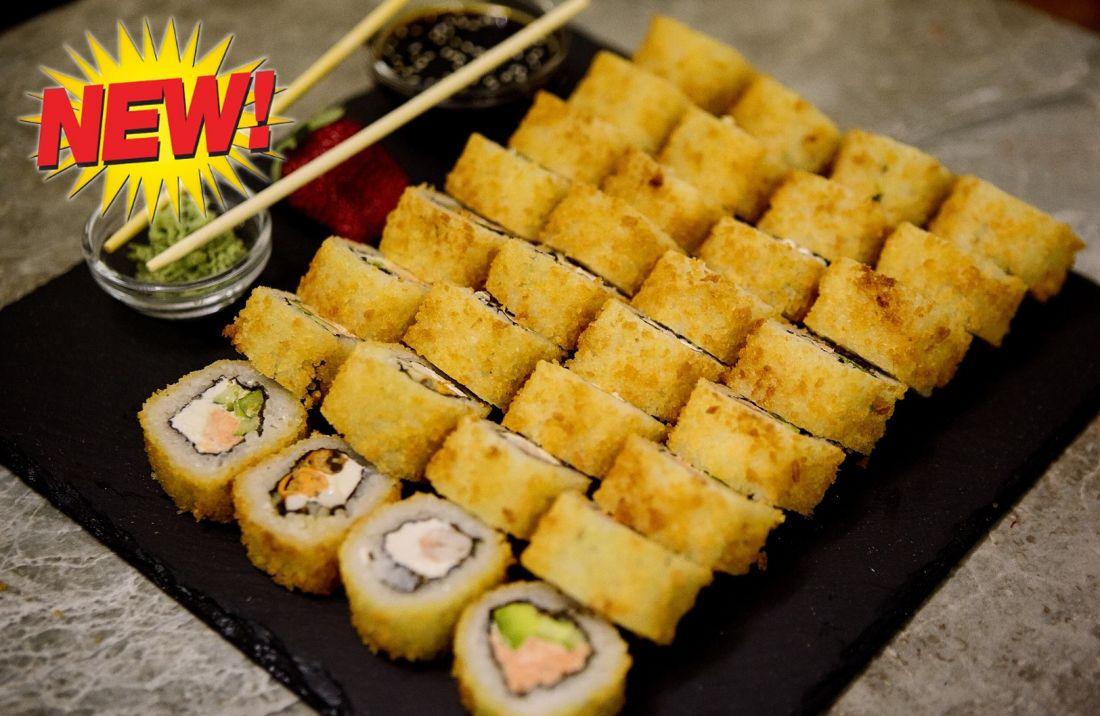 """Свежие суши-сеты от """"СушиНям"""" с бесплатной доставкой и навынос от 22 руб/от 860 г + подарок!"""