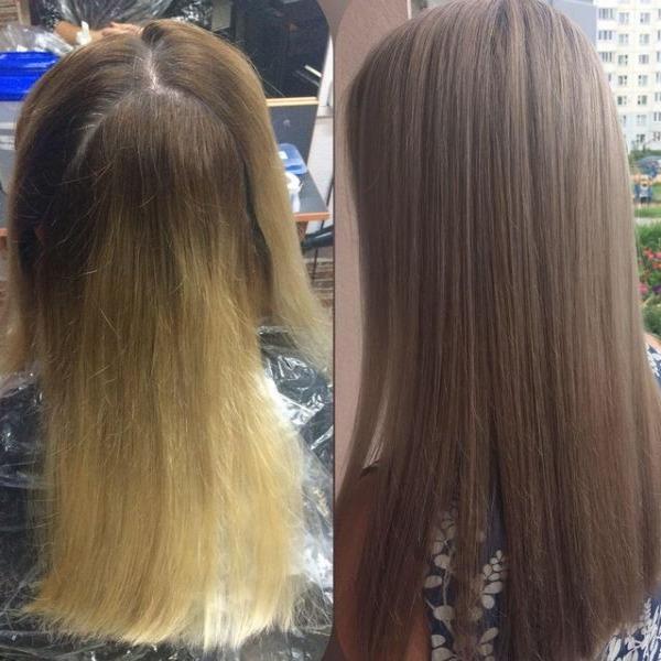 """Окрашивание, мелирование, реконструкция волос """"Vitaker"""" от 10 руб. в парикмахерской """"Красота Доступна"""""""