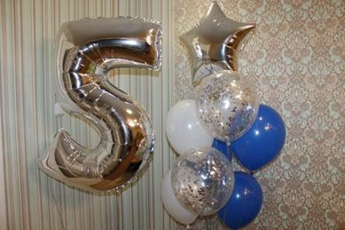 Гелиевые шары, цифры, фигуры, фольгированные, шары-гиганты от 0,70 руб/шт.