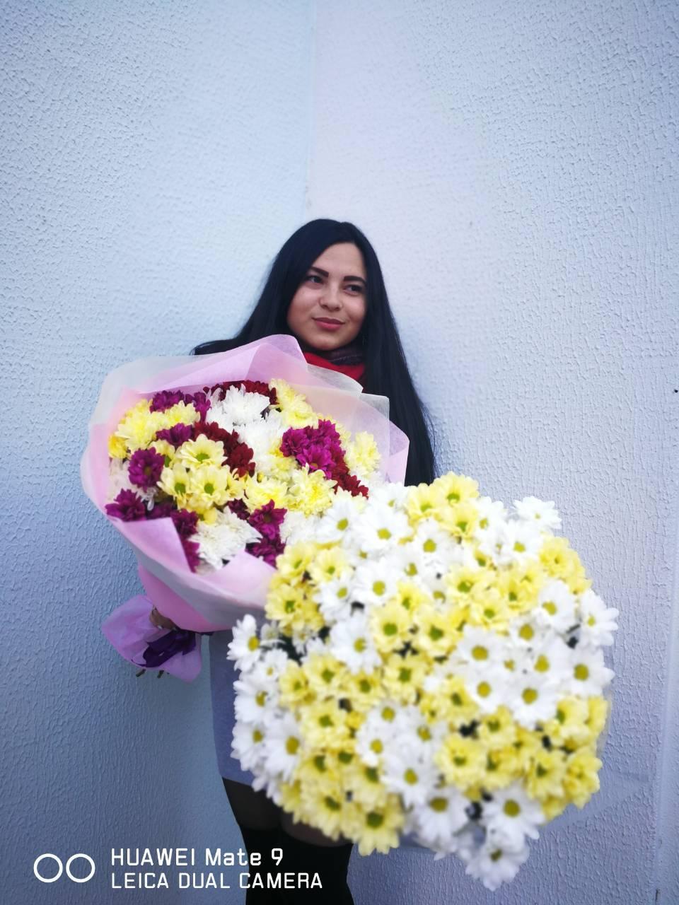 """Букеты из ромашек от 9 руб, розы от 3,50 руб. от """"Flowers de luxe"""""""