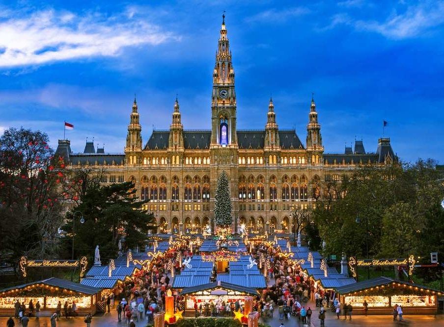 """Рождественский тур """"Прага-Вена-Будапешт"""" от 191 руб/5 дней. Отели 4*"""