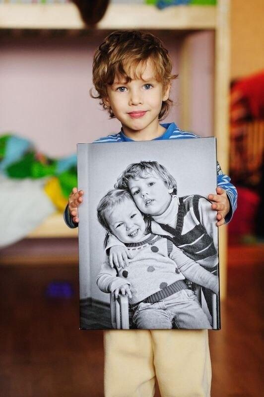 Печать фото на натуральном холсте! Фотокартины премиум качества всего от 12 руб.!