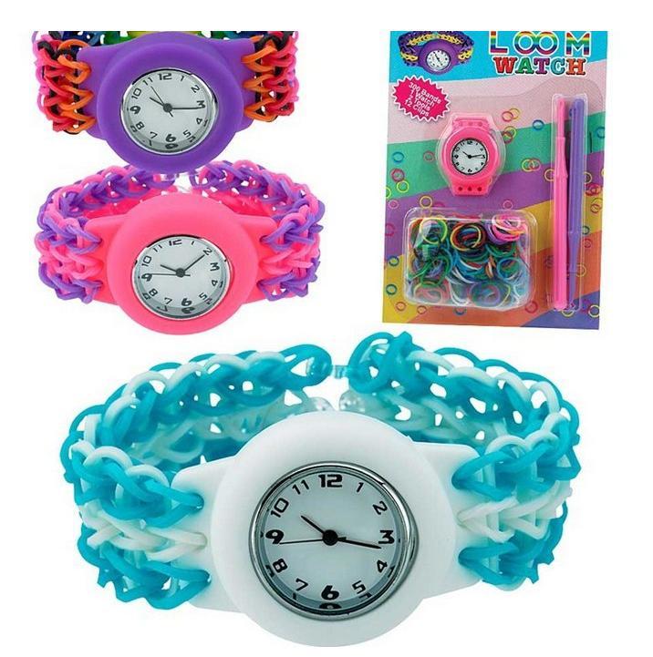 Плетение из резинок браслет на часы