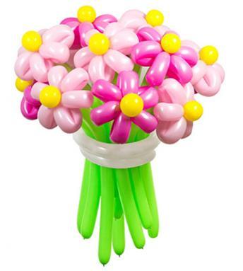 Гелиевые, светящиеся, ходячие шары от 1,60 руб, букеты цветов из шаров от 6 руб.
