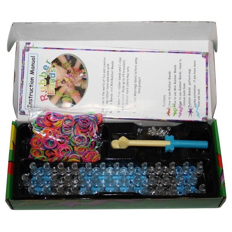 """Набор для плетения """"Rainbow Loom"""", резинки, крючки от 0,50 руб."""