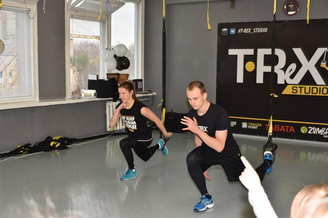 """Два занятия в фитнес-клубе """"T-REX STUDIO"""" за 5 руб., абонемент от 30 руб."""