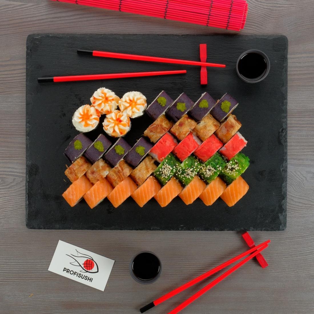 """Аппетитные суши-сеты от службы доставки """"Profisushi"""" всего от 18,90 руб."""