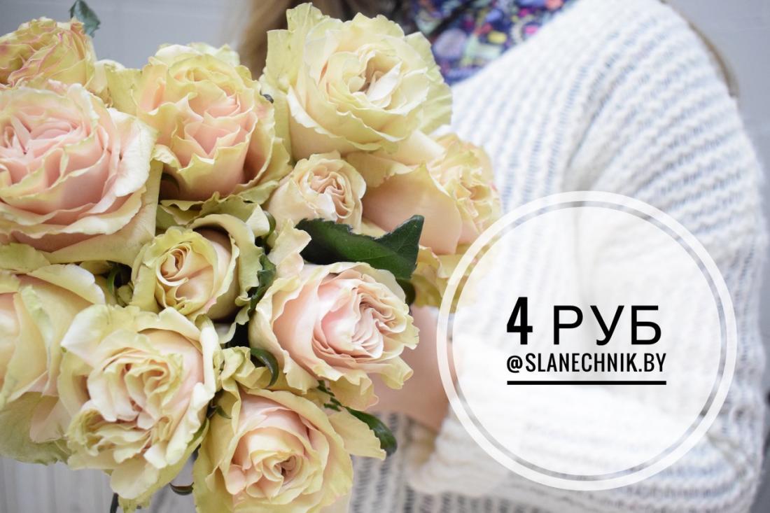 """Голландские тюльпаны от 1 руб/шт, розы, гвоздики шабо, альстромерии, подарочные наборы на 8 марта в магазине """"Сланечнiк"""""""