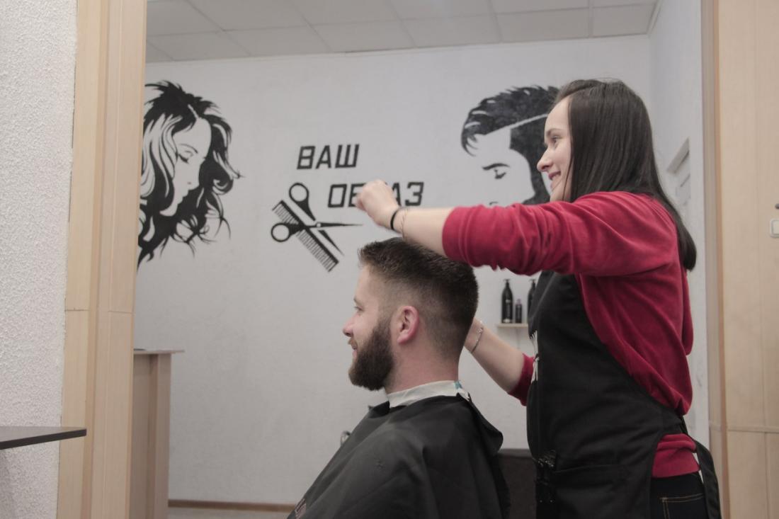 """Стрижка, стрижка горячими ножницами, реконструкция волос """"Vitaker"""", полировка волос от 7 руб, макияж, окрашивание волос,  прически от 20 руб. в парикмахерской """"Ваш образ"""""""