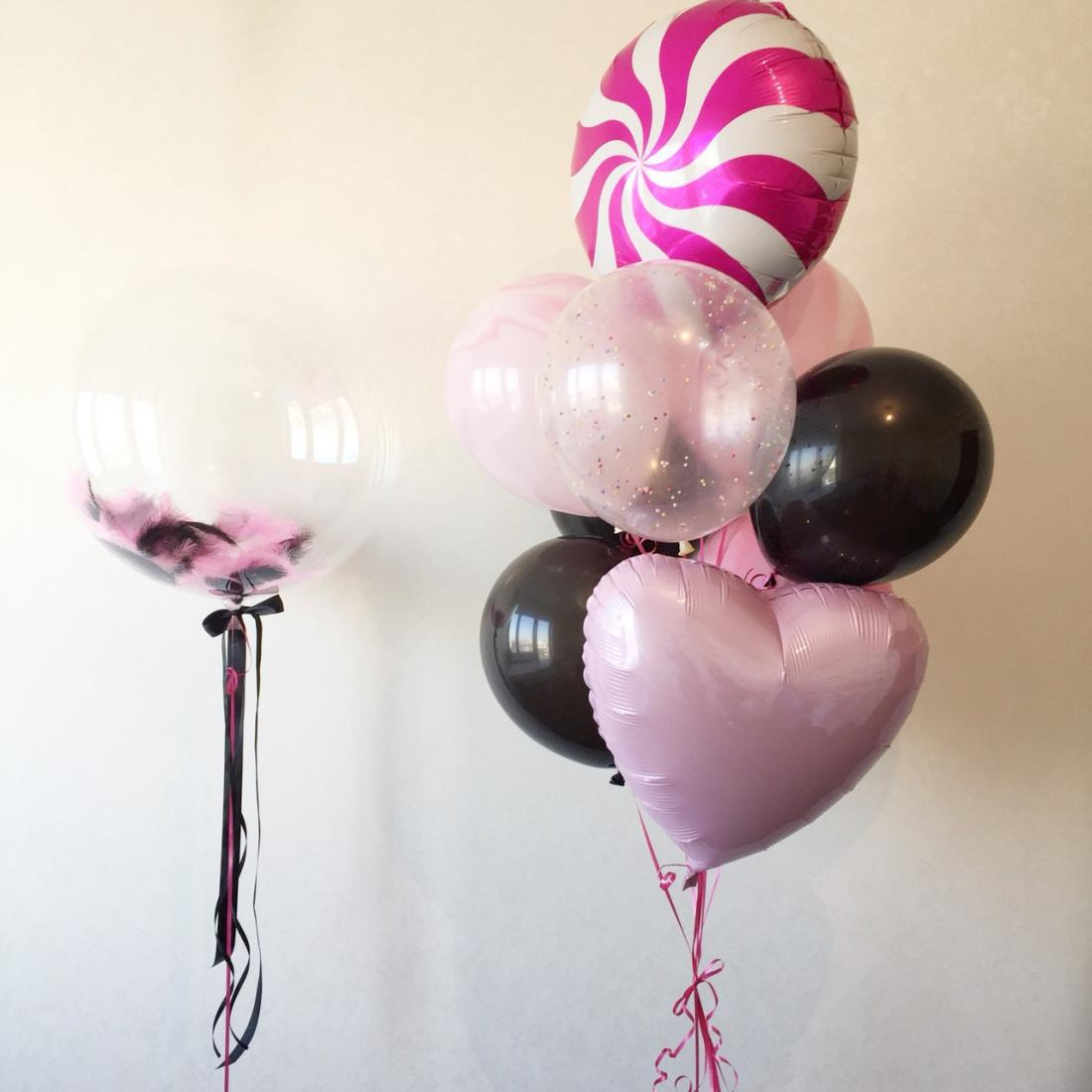Гелиевые шары, композиции из гелиевых воздушных шаров, шары-гиганты от 1,60 руб/шт.