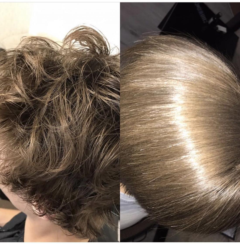 Аминокислотное выпрямление волос, ботокс, нанопластика, кератиновая пластика от 15 руб.