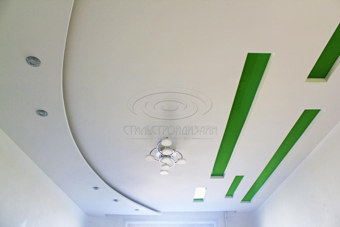 Натяжные, экотканевые, двухуровневые, гипсокартонные потолки, установка парящих линий, фотопечать от 12 руб/м2