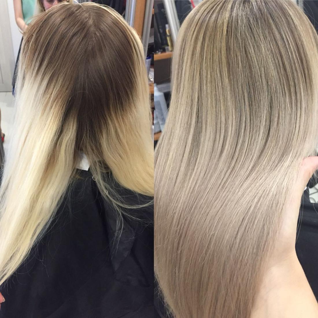 "Сложное окрашивание волос, в один тон, краской клиента + уход от 15 руб. в студии ""S beauty Kate"""