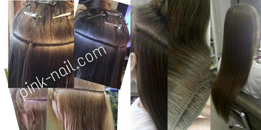 """Голливудское наращивание волос на косичку от 80 руб. Бесплатное снятие и адаптационная стрижка (0 руб) в нейл-студии """"Розовая Пантера"""""""