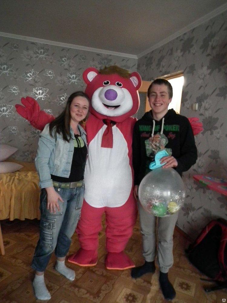 Доставка подарка розовым мишкой за 30 руб!
