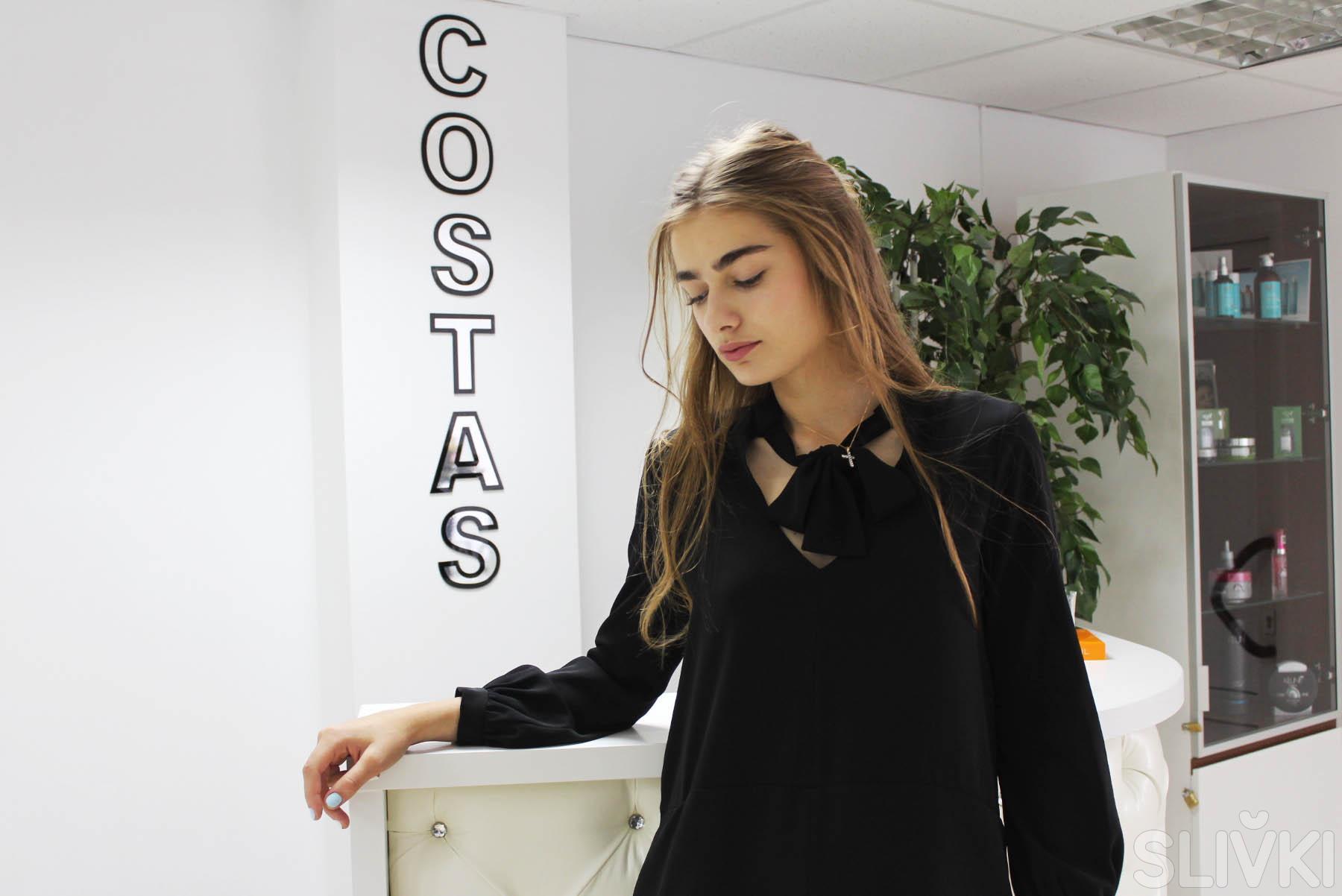 Топ-модель Лиза Мартынчик в салоне Costas