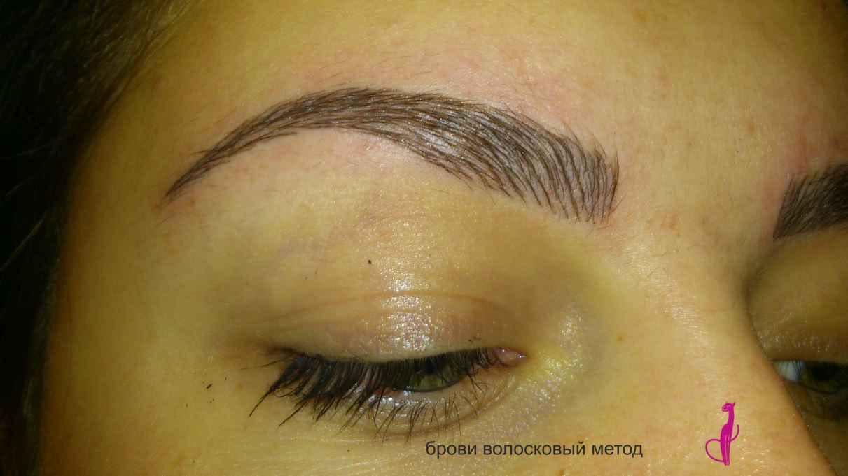 Микроблейдинг бровей волосковый эффект