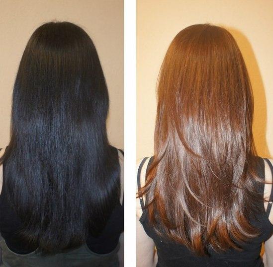 Как сделать смывку для темных волос 149